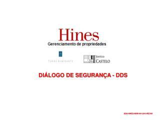 DI�LOGO DE SEGURAN�A - DDS