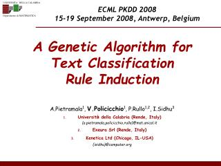 A Genetic Algorithm for  Text Classification  Rule Induction