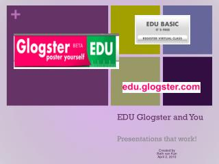 EDU Glogster and You