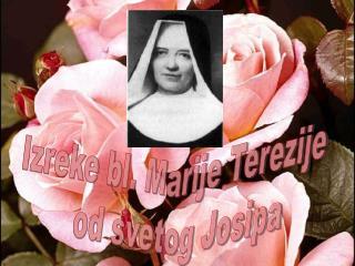 Izreke bl. Marije Terezije od svetog Josipa