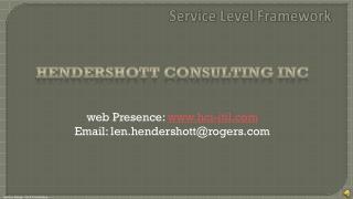 Service Level Framework