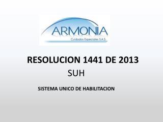 RESOLUCION 1441 DE 2013