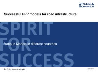 Successful PPP models for road infrastructure