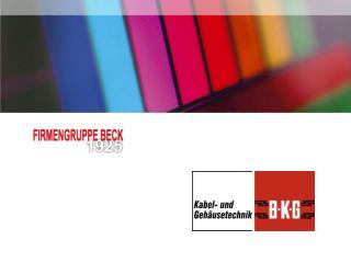Beck GmbH & Co.  Elektronik Bauelemente KG Nuermberg