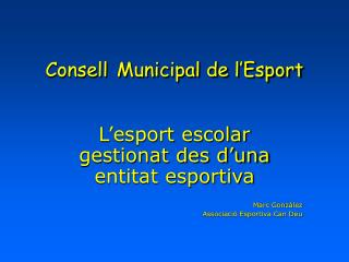 Consell Municipal de l'Esport