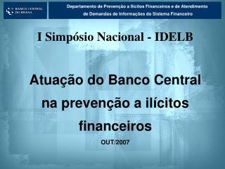 Departamento de Prevenção a Ilícitos Financeiros e de Atendimento