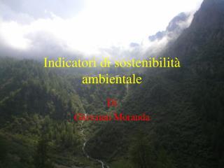 Indicatori di sostenibilità ambientale