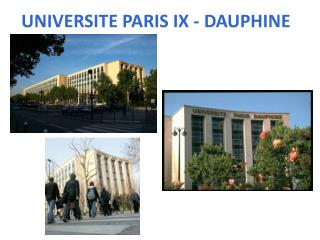 UNIVERSITE PARIS IX - DAUPHINE