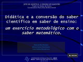 Denis da Silva Monteiro Jeferson Gomes Moriel Junior Livia Carolina Miranda Faria