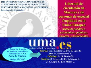 Grupo de trabajo de Ciencias Sociales y  Humanas del P.A.I. Junta de Andalucía  Código SEJ 267