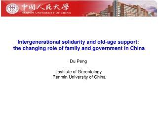 Intergenerational solidarity and old-age support: