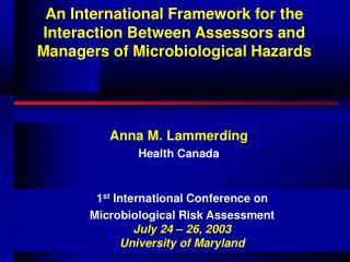 Anna M. Lammerding Health Canada
