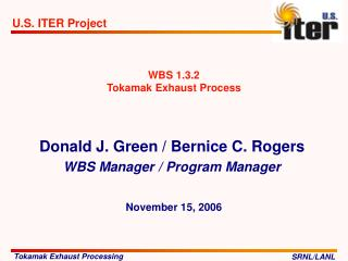 WBS 1.3.2  Tokamak Exhaust Process