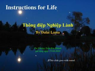 Instructions for Life Thông điệp Nghiệp Lành By Dalai Lama