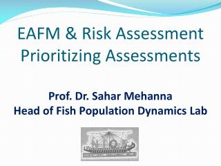 Ecosystem Approach to Fisheries Management (EAFM)