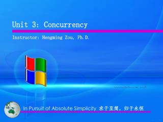 Unit 3: Concurrency