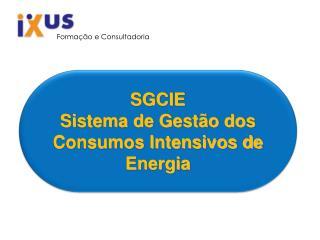 SGCIE Sistema de Gestão dos Consumos Intensivos de Energia