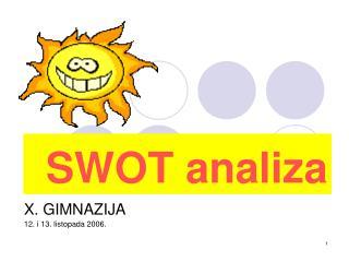 SWOT analiza