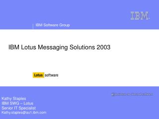 IBM Lotus Messaging Solutions 2003