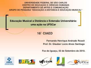 Educação Musical a Distância e Extensão Universitária:  uma ação na UFSCar