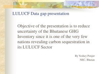 LULUCF Data gap presentation
