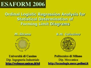 Ordinal Logistic Regression Analysis for Statistical Determination of Forming Limit Diagrams