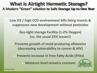 "What is Airtight Hermetic Storage? A Modern ""Green"" solution to Safe Storage Up to One Year"