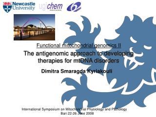 Functional mitochondrial genomics II
