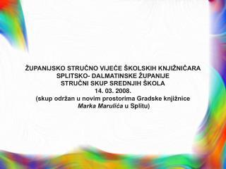 Ana Krželj, savjetnica za školske knjižnice, Agencija za odgoj i obrazovanje