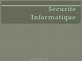 S�curit� Informatique Module 01