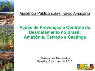 Audiência Pública sobre Fundo Amazônia Ações de Prevenção e Controle do Desmatamento no Brasil: