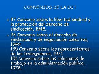 CONVENIOS DE LA OIT
