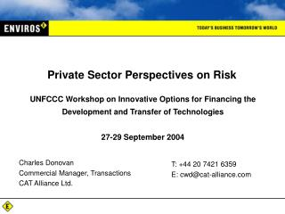 Private Sector Perspectives on Risk