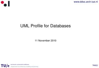 UML Profile for Databases