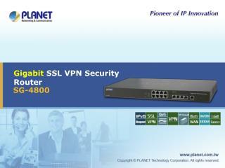 Gigabit  SSL VPN Security Router