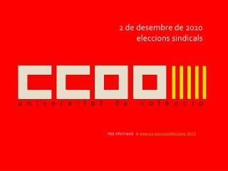2 de desembre de 2010 eleccions sindicals