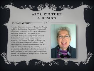 Arts, culture  & design