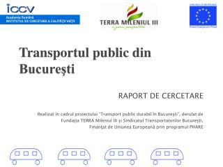 Transportul public din Bucureşti
