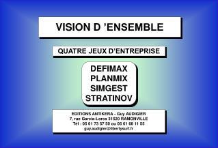 VISION D'ENSEMBLE