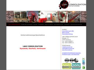 Unternehmenspräsentation L&W CONSOLIDATION  Dynamik, Klarheit, Vertrauen