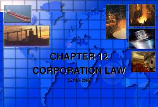 CHAPTER 12  CORPORATION LAW 22 May 2006