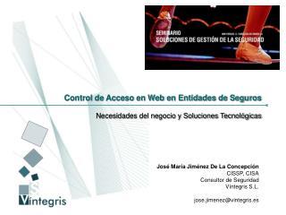 Control de Acceso en Web en Entidades de Seguros