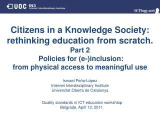 Ismael Peña - López Internet Interdisciplinary Institute Universitat Oberta de Catalunya