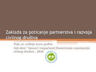 Zaklada za poticanje partnerstva i razvoja civilnog dru�tva
