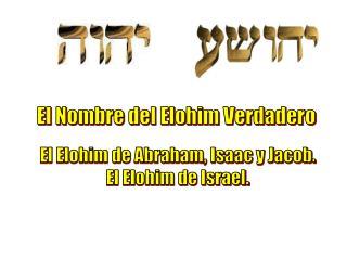 El Nombre del Elohim Verdadero