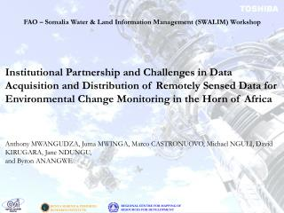 FAO – Somalia Water & Land Information Management (SWALIM) Workshop