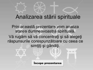 Analizarea stării spirituale