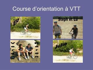 Course d'orientation à VTT
