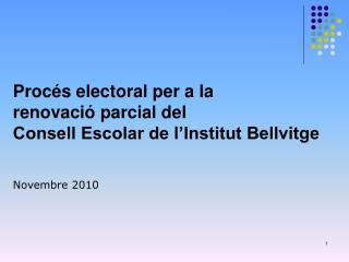 Consell Escolar de l'Institut Bellvitge