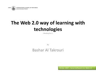 The Web 2.0 way of learning with  technologies :: Reading No.2::